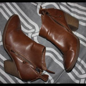 Wide Width Faux Leather Booties